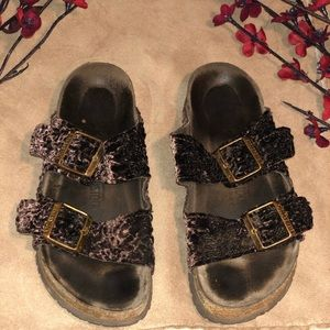 BIRKENSTOCK Arizona Brown Velvet Women Sandals